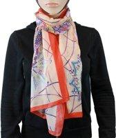 Sjaal 100% Polyester  Oranje