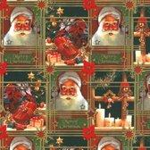 Toonbankrol.nl - Cadeaupapier op rol - Kerst Ho-Ho-Ho - 50cm - 200m - 80gr