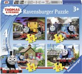 Ravensburger Thomas & Friends. Vier puzzels -12+16+20+24 stukjes - kinderpuzzel