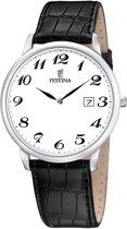 Festina F6806/5 Klassiek - Horloge- Staal - Zilverkleurig - 40 mm