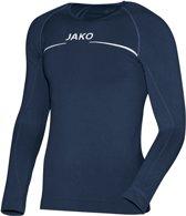 Jako Comfort LM  Sportshirt performance - Maat 140  - Unisex - blauw