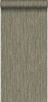 Origin behang bamboe donker taupe