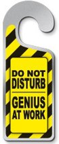 Do Not Disturb Genius At Work Deurhanger Metaal