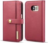 Samsung Galaxy S7 Leren 2-in-1 Bookcase en Back Cover Hoesje Rood