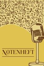 Notenheft: Notenheft DIN-A5 mit 100 Seiten leerer Notenzeilen zum Notieren von Noten und Melodien f�r Komponistinnen, Komponisten