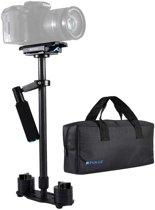 PULUZ 38,5-61cm Koolstofvezel Handheld Stabilizer voor DSLR & DV digitale video & camera's, Belastingbereik: 0,5 - 3 kg (zwart)