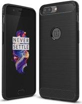 OnePlus 5 Hoesje Backcover TPU Case Zwart