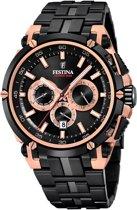 Festina F20329/1 horloge heren - zwart - edelstaal PVD rosé