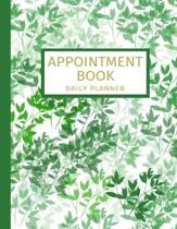 Appointment Book - Daily Planner: Undated 52 Weeks Monday To Sunday 8AM To 6PM Appointment Planner With Bamboo Design, Organizer In 15 Minute Incremen