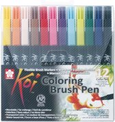 Sakura - Koi Coloring Brush Pen - Penseelpen - Penseelstift - 12 stuks