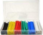 Krimpkous set - 100 stuks - gekleurd - in box