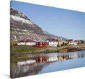 Het IJslandse Grundarfjordur in Europa Canvas 140x90 cm - Foto print op Canvas schilderij (Wanddecoratie woonkamer / slaapkamer)