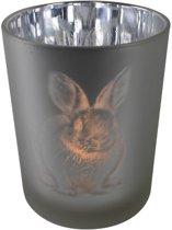 Waxinelichthouder Konijn (12,5 x 10 cm)