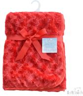 Soft Touch luxe baby deken rood