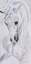 Horka Wenskaart Wit Paard 12,5 X 18 Cm