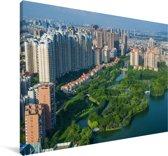 Uitzicht op de stad Foshan in China Canvas 140x90 cm - Foto print op Canvas schilderij (Wanddecoratie woonkamer / slaapkamer)