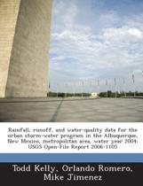 Rainfall, Runoff, and Water-Quality Data for the Urban Storm-Water Program in the Albuquerque, New Mexico, Metropolitan Area, Water Year 2004