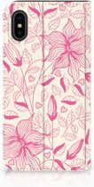 iPhone X Case Pink Flowers