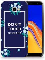 Samsung Galaxy J4 Plus (2018) TPU Hoesje Flowers Blue DTMP