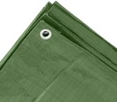 Groen afdekzeil / dekzeil - 3 x 5 meter - 100 grams kwaliteit - dekkleed / grondzeil