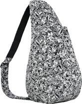 Healthy Back Bag Textured Nylon Small Circular Motion 19243-BW