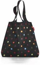 Reisenthel Mini Maxi Shopper - Opvouwbare boodschappentas - Polyester - 15L - Dots Zwart