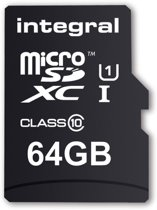 Integral 64GB Micro SDXC UltimaPro 64GB Micro SDXC UHS-I Class 10 flashgeheugen