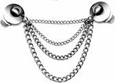 Vestklem - The Silver Eye - multifunctioneel sieraad -  bijvoorbeeld als vest sluiting -  handmade