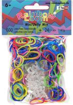 Rainbow Loom Elastiekjes - Rubber Bands Jelly Mix - 600 stuks
