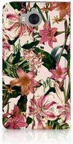 Huawei Y5 | Y6 2017 Uniek Standcase Hoesje Flowers