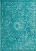 Vintage - tapijt of vloerkleed - Tatum aqua - katoen - 250x200cm