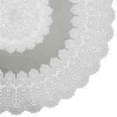 Binnen/buiten tafelkleed/tafellaken lichtgrijs 152 cm rond - Ronde kanten tafelkleden Amira - Tuintafelkleed tafeldecoratie