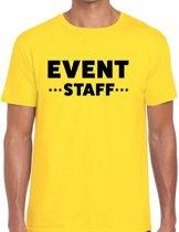 Event staff tekst t-shirt geel heren - evenementen crew / personeel shirt XL