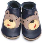Starchild babyslofjes bear navy Maat: S (11 cm)