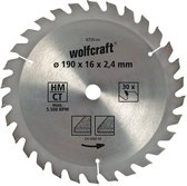 Wolfcraft Cirkelzaagblad 190mm