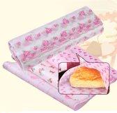 Wax Papier Hartjes - Voedsel Inpakpapier / Verpakkingspapier - Cadeaupapier Roze