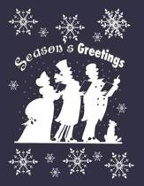 Season's Greetings: Holiday Card Design: Notebook/Journal, 8.5'' x 11'', 200 Pages, College Rule - 12