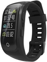 DrPhone Xtreme V10 GPS Band - IOS / Android Activity Tracker - Fitness Monitor - Sporthorloge - Ingebouwde GPS - 100% Waterproof IP68 Zwemmen / Duiken - Dynamic Hartslagmeter - Alarm - Alternatief Samsung Gear Fit 2 - Luxe Smartwatch - Eclipse Zwart