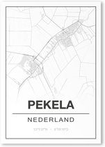 Poster/plattegrond PEKELA - 30x40cm