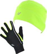 Rucanor Loan Vines Set Gloves and Hat - Muts -  Algemeen - Maat XS - S - Fluor Geel;Zwart