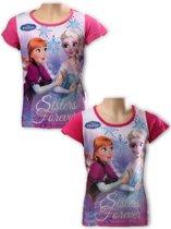 Frozen t shirt roze 110
