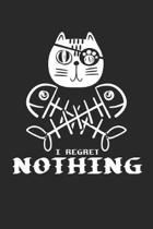 I Regret Nothing: Pirate Cat Gift Cute Kitten Dot Grid Journal, Diary, Notebook 6 x 9 inches with 120 Pages
