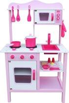 Houten speelkeuken (Roze) incl. kookgerei