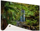 Beauchamp watervallen Tuinposter 200x100 cm - Tuindoek / Buitencanvas / Schilderijen voor buiten (tuin decoratie) XXL / Groot formaat!