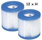 Intex Zwembad Filtercartridge Type H - 29007/29008 - 12 stuks