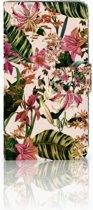 Motorola Moto G5S Plus Uniek Boekhoesje Flowers