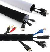 Kabelkanaal MCTV-672 Winding Organizer Oprolbare Zwart en Wit om uit te kiezen Maclean