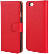 Movizy lederen walletcase iPhone 6(S) - rood