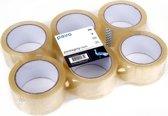 Verpakkingsplakband Transparant 50mm x 66m pak 6 rollen