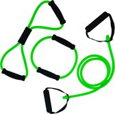 Tunturi Tubing met Handvatten - Tubbingset - Resistance tube - Medium Groen